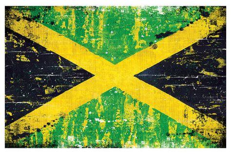 Print 18x12 Jamaican Flag Rasta Rastafari Reggae Etsy Jamaican Art Posters Art Prints Jamaican Flag