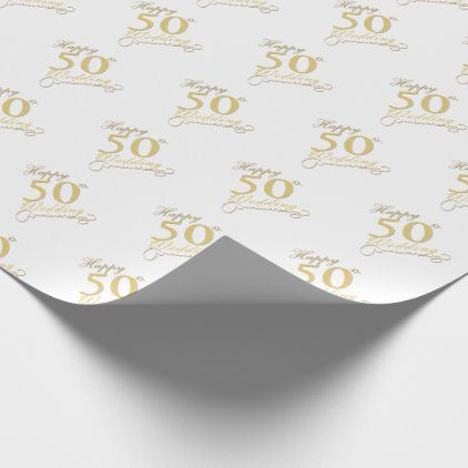 Happy 50th Wedding Wrapping Paper Zazzle Com Wedding Wrapping Paper 50th Wedding Happy 50th