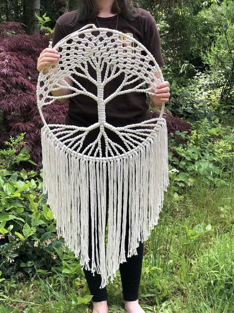 Hippie Decor / Large Tree of Life Tapestry / Living Room Decor / Macrame Wall Hanging / Housewarming