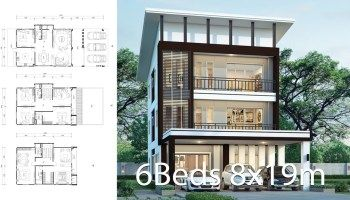 House Design Plan 8x16 5m With 6 Bedrooms Home Ideas In 2020 House Design Duplex House Design House Front Design