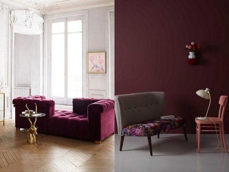 Le Bon Mix Deco Rouge Rose Et Gris Home Decor Dark Lounge Home