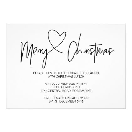 Christmas Day Lunch 2020 Christmas Party Invitation Christmas Lunch Invite | Zazzle.
