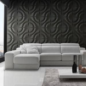 Wall Forms panels are made of white bone-colored plastic with a wall-like texture. They can be used both in interiors (painted with water-based or oil-based paint using a transparent plastic primer before) and exteriors (painted with exterior paint). Each box contains 32.9 ft2 / (12 panels of 50×50 cm / 19.6×19.6 in),