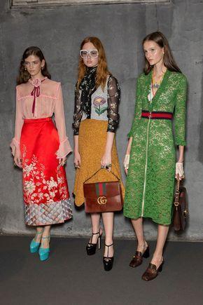Gucci at Milan Fashion Week Spring 2016 - Backstage Runway Photos