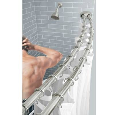 Product Image For Titan Stainless Steel Dual Install Double Curved Shower Rod 2 Out Of Shower Rod Installation Shower