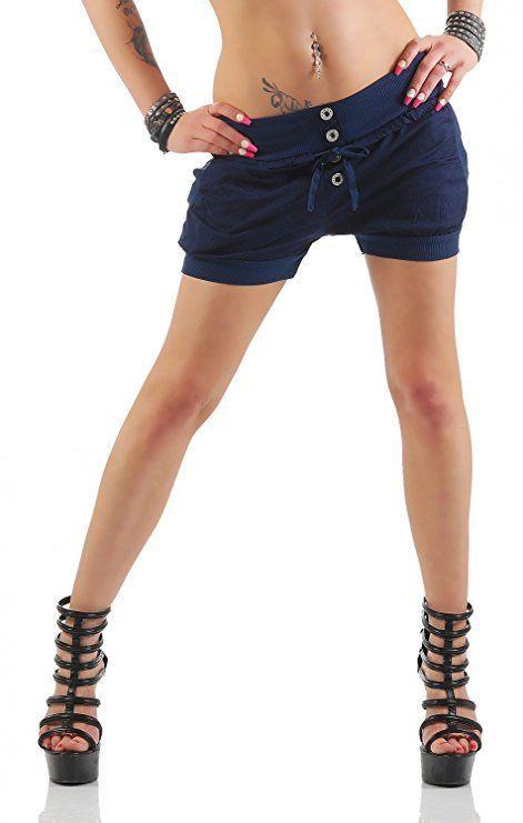 Kurze Damen Shorts Häkel Spitze Hose Stoffhose Lace Hotpants Panty* S M-36 38