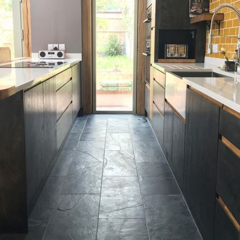 Stunning satin touch Brushed Black Natural Slate Tiles are an exceptional natural stone for use throughout the home.