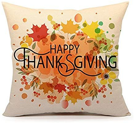 Happy Thanksgiving Throw Pillow by