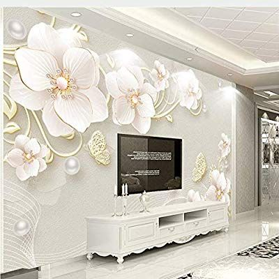 Meaosy Custom Mural Wallpaper 3d Stereo Relief Jewelry Flower Modern Simple European Style Wallpaper Living Room Wall Decor Living Room Custom Photo Wallpaper