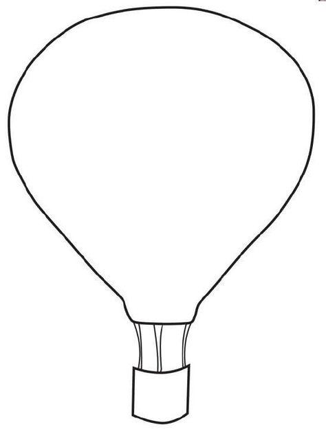 Free Printable Hot Air Balloon Template Balloon Printable