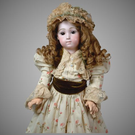 Stunning 24 French Long-Face Jumeau Bebe Triste by Carrier-Belleuse size 11