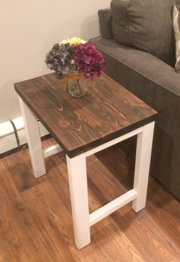 How to build a DIY sofa side table for about 15 dollars! Step by step  instructions | My creations | Pinterest | Sofa side table, Diy sofa and  Woodworking