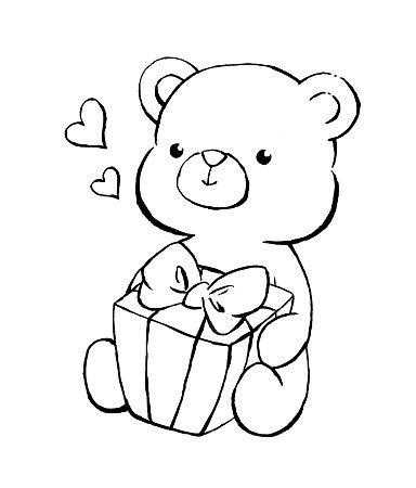 Pin By Daniela Vasile On Hearts In 2020 Teddy Bear Drawing Easy Teddy Bear Cartoon Cute Drawings