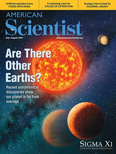 Cover American Scientist With Artist Impression Kepler 138b