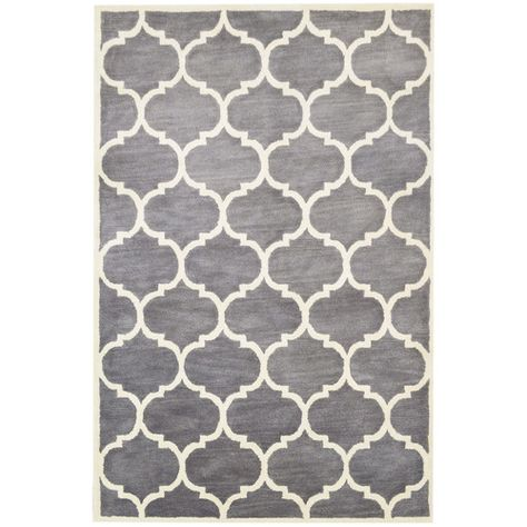 Florida Hand Tufted Grey Ivory Area Rug