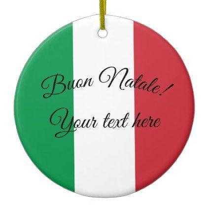 Buon Natale Ornament.Buon Natale Italian Flag Christmas Ornament Zazzle Com Home
