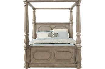 best service 707b8 89bc7 Havencrest Gray 5 Pc King Canopy Bed | master bedroom ...