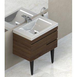 Made From 15mm Particle Board Covered With Double Face Ecofort Melamine This Vanity Floating Bathroom Vanities Single Bathroom Vanity Modern Bathroom Vanity