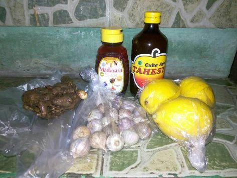 Resep Jus Diet Kesehatan Bawang Putih Jahe Cuka Apel Madu Lemon Oleh Deta Ap Resep Jahe Resep Diet Diet Detoks