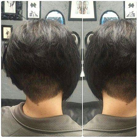 Stacked Bob With Undercut In 2020 Bobs Haircuts Bob Hairstyles Inverted Bob Haircuts