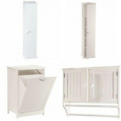 Bathroom Storage Cabinet Laundry Over Toilet Paper Tissue Holder Slim Stand Door