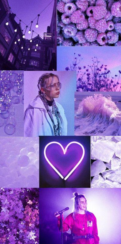 Billie Eilish Lavender Aesthetic Lavender Aesthetic Cute Wallpapers Purple Aesthetic