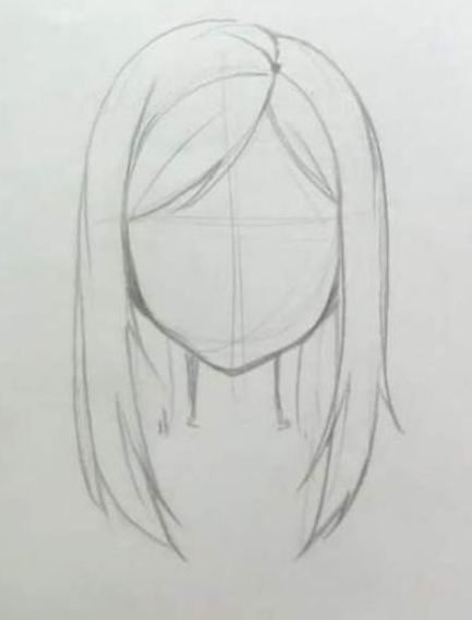 Hair Drawing Ideas Hairstyles Anime Girls 57 New Ideas Hair Drawing Hairstyles Easy Hair Drawings Easy People Drawings Drawing Hair Tutorial