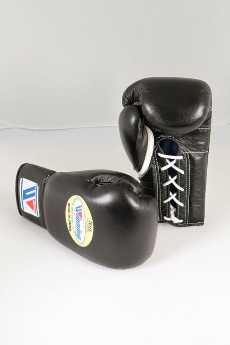 New from Japan Winning Pro Boxing Gloves MS-300 Blue 10oz Lace-up Design