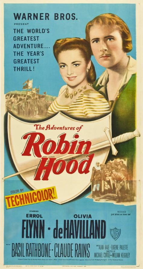 The Adventures Of Robin Hood 1938 Director Michael Curtiz William Keighley Robin Des Bois Affiche Cinéma Affiche Film