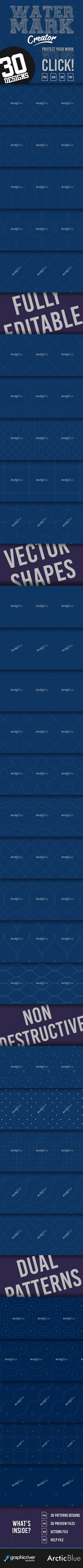 Watermark Creator Psd Atn Pattern Click Here To Download