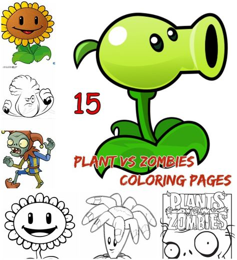 Plant Vs Zombies Coloring Pages For Kids Plant Vs Zombies Characters Coloring Pages Coloring Pages For Kids Color Crafts