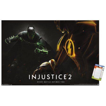 Dc Comics Video Game Injustice Gods Among Us 2 Batman And The Flash Premium Poster And Poster Mount Bundle Walmart Com In 2021 Injustice 2 Injustice Batman