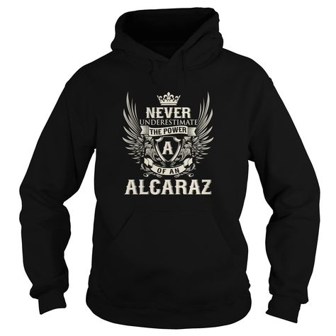 [New tshirt name printing] ALCARAZ A Shirts of month Hoodies, Funny Tee Shirts