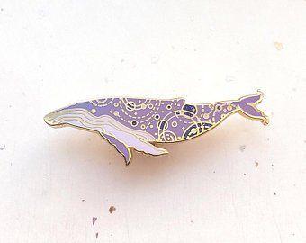 Humpback Whale Marine Mammal Sea Creature Metal Enamel Pin Badge Brooch NEW