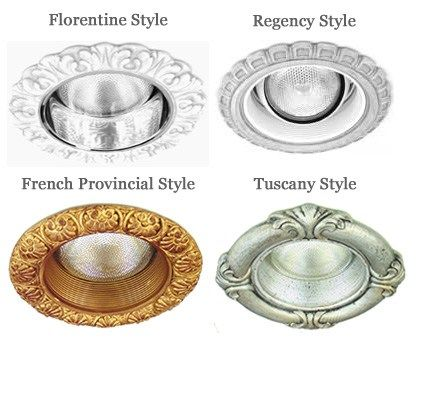 Diffe Lighting Styles Bottom Up Decorative Recessed