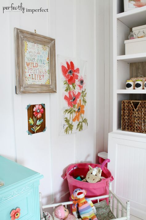 Girl's Room Wall Art + Design   perfectly imperfect