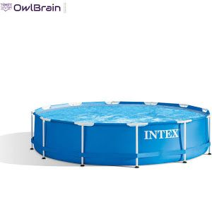 Intex 12 X 30 Metal Frame Pool Metal Pool Intex Everyday Essentials Products