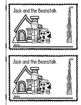 Jack And The Beanstalk Emergent Reader Fairy Tales Kindergarten Jack And The Beanstalk Emergent Readers