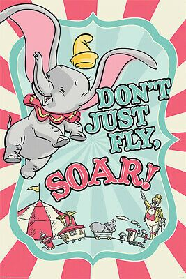 Dumbo - Disney Movie Poster / Print (Don't Just Fly & Soar!) (Size: 24