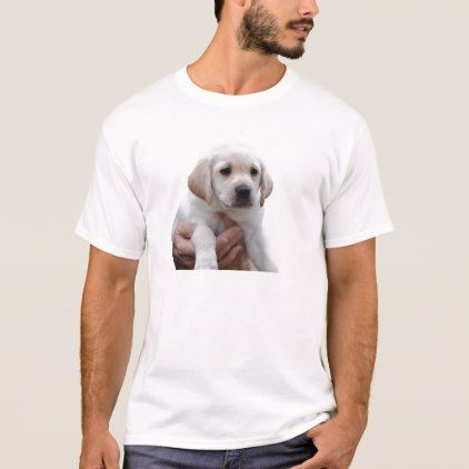 Yellow Lab Puppy In My Arms T Shirt Zazzle Com Puppies Dogs