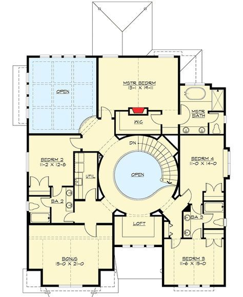 Plan 23582jd Beautiful 4 Bed Gambrel House Plan House Floor Plans House Plans Floor Plans