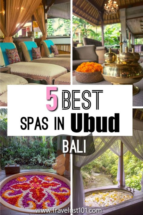 If you are heading to Ubud Bali for your Bali vacation, one of the things you must do in Bali is to indulge in a spa!  From Balinese massage to flower baths, find your ultimate spa treatment and location in this post to fill your Bali itinerary!  Bali Travel Guide   Bucket List Bali   Bali Indonesia Travel   Southeast Asia Travel   #bali #indonesia #baliindonesia #ubud #ubudbali #asiatravel #balitravel