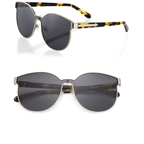 62df2bb05f1a Karen Walker Star Sailor 60MM Round Sunglasses ($345) ❤ liked on Polyvore  featuring accessories