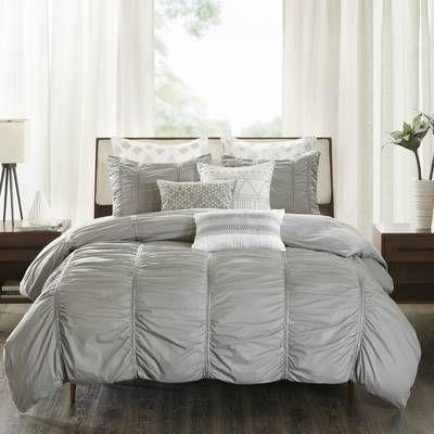Ruffle 100 Cotton 3 Piece Duvet Cover Set Reviews Allmodern Duvet Cover Sets Comforter Sets Bedding Sets