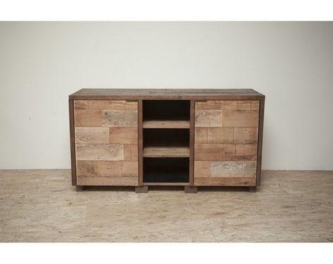 Credenza Industrial Fai Da Te : Reclaimed wood credenza cabinet or vanity ikide pinterest