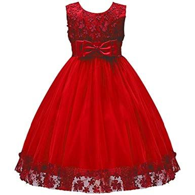Princess Kids Girl Bridesmaid Wedding Tulle Tutu Dress Formal Pageant Gown 3-10Y