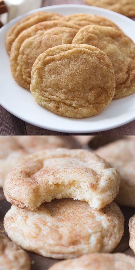 The BEST soft and chewy Snickerdoodle recipe! These get RAVE reviews every time and they are so easy to make.