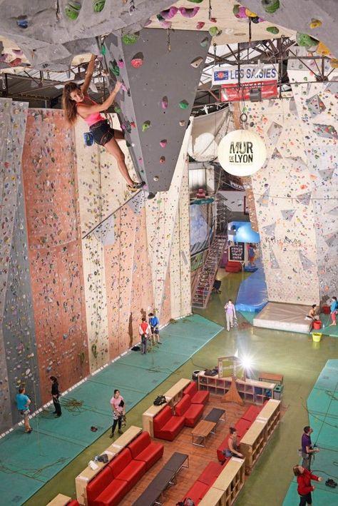 Escalade Salle Escalade Lyon Climb Up Rock Climbing Gym
