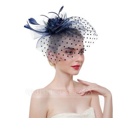 Vintage Hair Clip Fascinators Top Hat for Women Cocktail Kentucky Derby Headband Tea Party Wedding Headwear