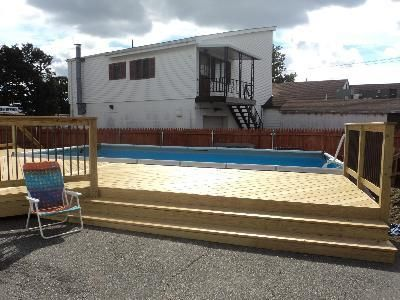 incredible semi inground pool decks design with intex ultra frame rectangular swimming pool also removable iron pool fence from pool tiles pool de